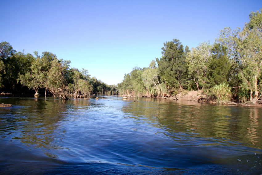 Crossing the McArthur River,  Phoebe Barton / MPI 2011