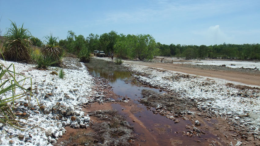 Contamination at Rum Jungle, former uranium mine, Northern Territory, © MPI / 2011