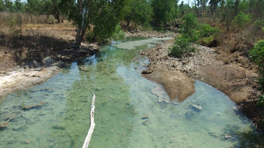 Contamination at Rum Jungle, former uranium mine, Northern Territory, © MPI / 2011